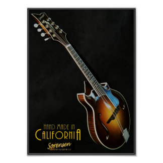 Classic Sorensen Sprite Two-Point mandolin poster