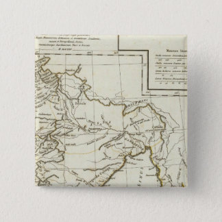 Classic South Asian Map 15 Cm Square Badge
