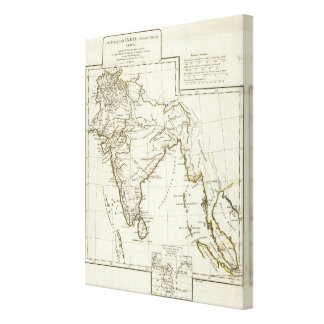 Classic South Asian Map Canvas Print