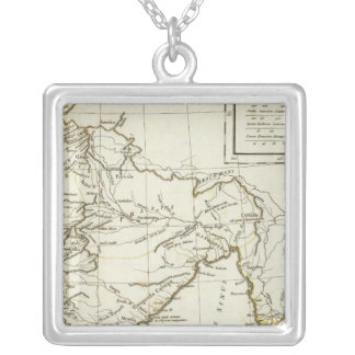 Classic South Asian Map Silver Plated Necklace