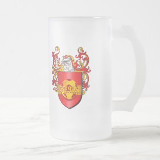 Classic Spanish Soccer Futbol coat of arms Frosted Glass Mug