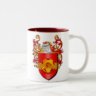 Classic Spanish Soccer Futbol coat of arms Two-Tone Mug