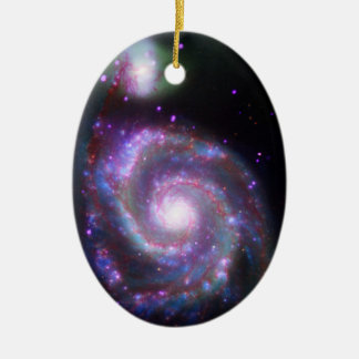 Classic Spiral Galaxy Christmas Ornament