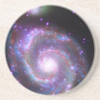 Classic Spiral Galaxy Coaster