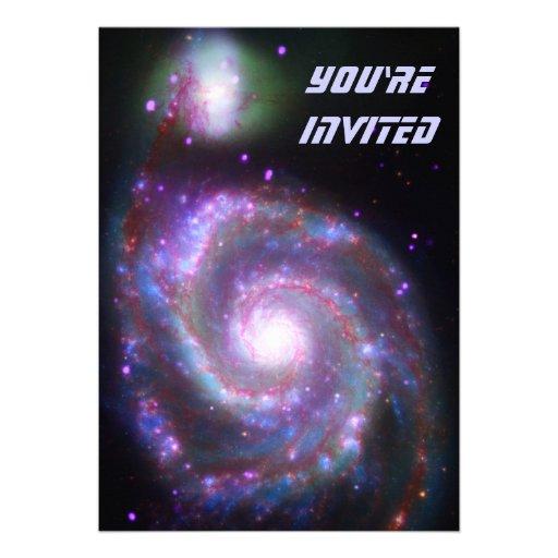 Classic Spiral Galaxy Invitations