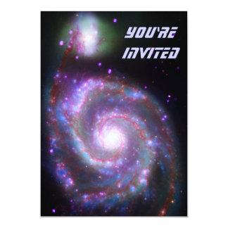 Classic Spiral Galaxy 13 Cm X 18 Cm Invitation Card