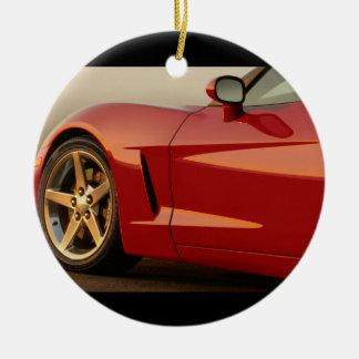 Classic Split Window Cars Round Ceramic Decoration