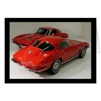 Classic Split Window Cars Greeting Card