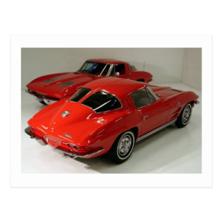 Classic Split Window Cars Postcard
