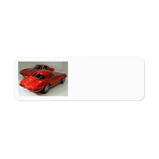 Classic Split Window Cars Return Address Label