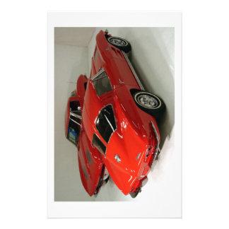 Classic Split Window Red Corvette Stationery Paper