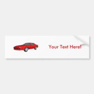 Classic Sports Car: 3D Model: Bumper Sticker