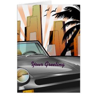 Classic sports car card