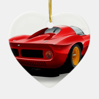 Classic sports car christmas ornament