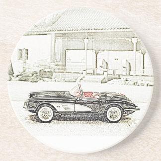Classic Sports Car Drink Coaster