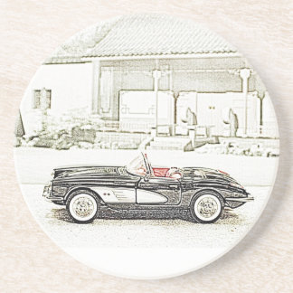 Classic Sports Car Drink Coaster