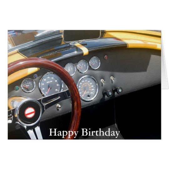Classic Sports Car, Happy Birthday Card