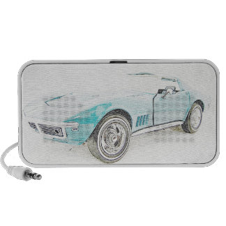 Classic Sports Car Laptop Speakers