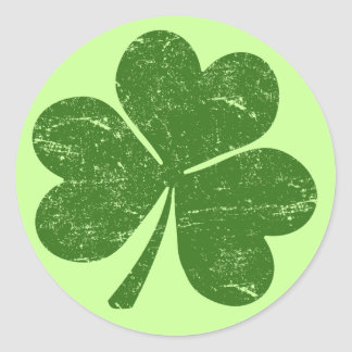 Classic St Paddys Shamrock Classic Round Sticker