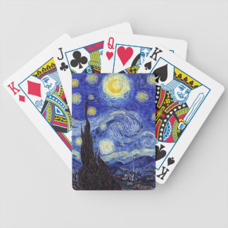Classic Starry Night Inspired Products Van Gogh Bicycle Playing Cards