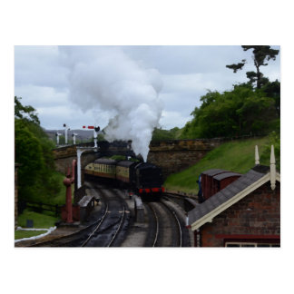 Classic Steam Train Postcard