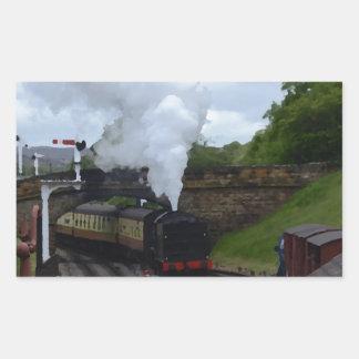 Classic Steam Train Rectangular Sticker