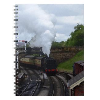 Classic Steam Train Spiral Note Books