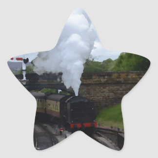 Classic Steam Train Star Sticker