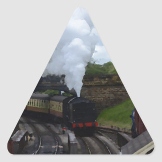 Classic Steam Train Triangle Sticker