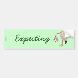 Classic Stork (Neutral) 1 (Baby Shower) Bumper Sticker