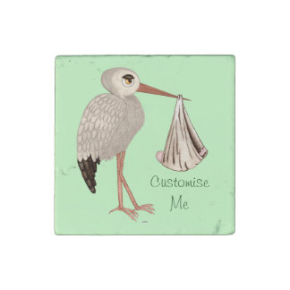 Classic Stork (Neutral) 1 Stone Magnet