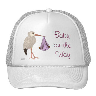 Classic Stork (Pink) 2 (Baby Shower) Hats