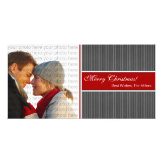 Classic Stripes Christmas Photo Card