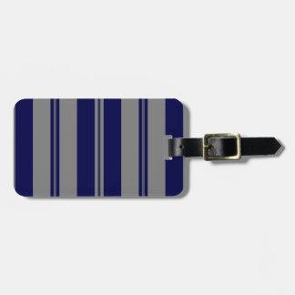 Classic Stripes in Grey & Dark Blue Bag Tag