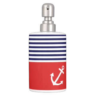 Classic Stripes Nautical Love Bathroom Set