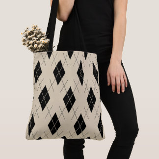Classic-Style-Argyle-Totes_Bag''s_Multi-Style' Tote Bag