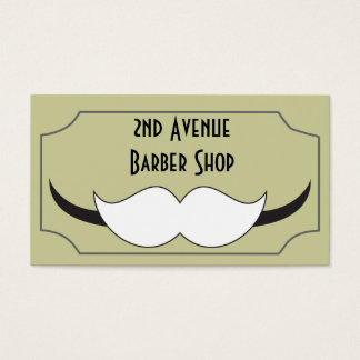 Classic style barber shop business card, business card