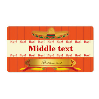 Classic Style Hot Chilli Label Shipping Label