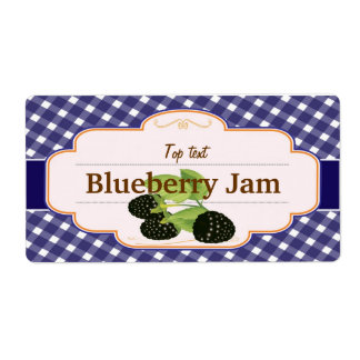 Classic Style Jam Jelly Mulberry Label Shipping Label