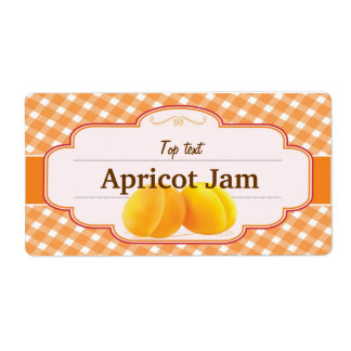 Classic Style Jam Jelly Traditional Apricot Jam Shipping Label