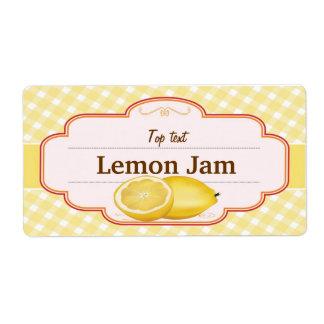 Classic Style Jam Jelly Traditional Lemon Jam Shipping Label