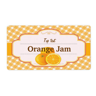 Classic Style Jam Jelly Traditional Orange Jam Shipping Label