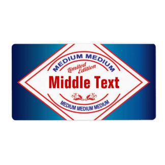 Classic Style Medium Chilli Label Blue Shipping Label