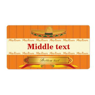 Classic Style Medium Chilli Label Shipping Label