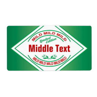 Classic Style Mild Chilli Label Green Shipping Label