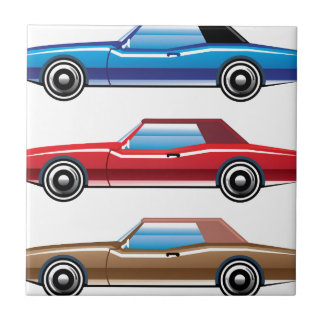 Classic style old vehicle vector clip-art tile