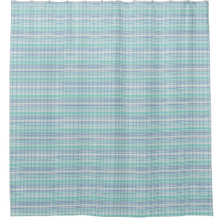 Classic-Summer-Breeze-Blue-Multi-Bathroom=Decor Shower Curtain