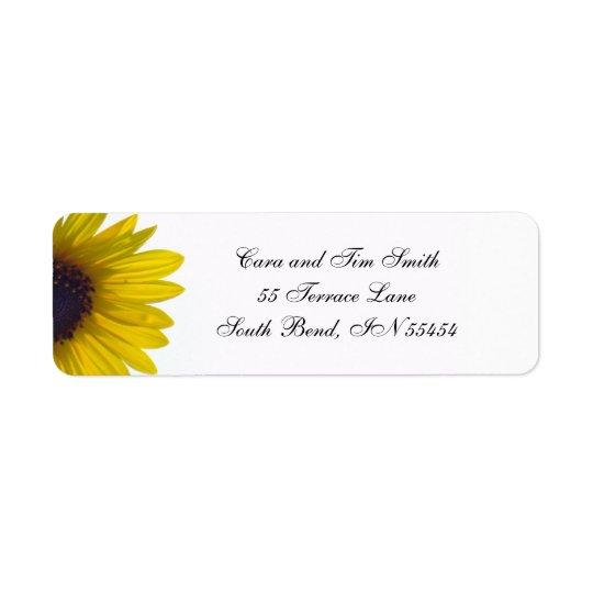 Classic Sunflower Return Address Labels