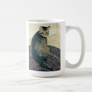 Classic tabby cat on classic mug