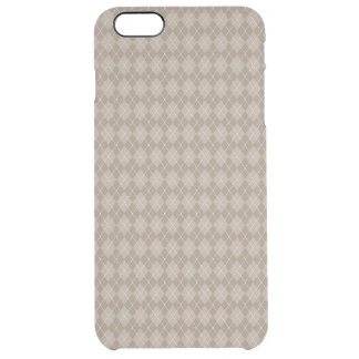 Classic Tan Argyle Ties and Gifts for Men Clear iPhone 6 Plus Case